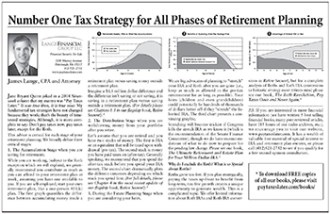 Tax strategy for retirement planning