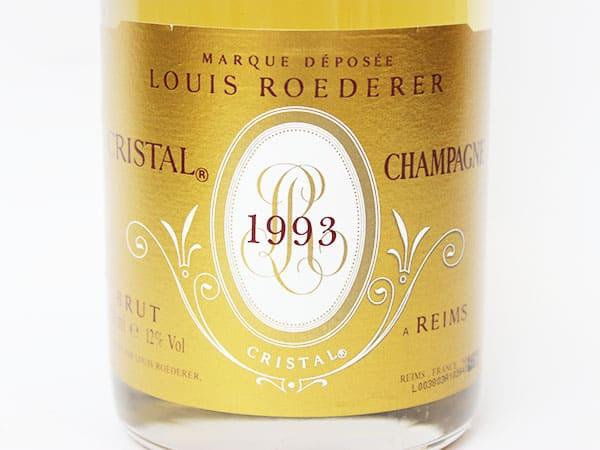 ルイ ロデレール クリスタル 1993 ラベル