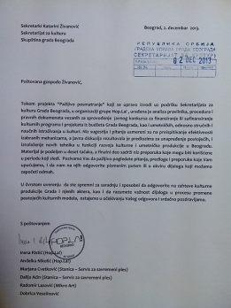 Dopis Gradu