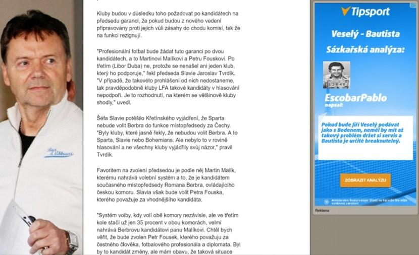 Každý si bere na paškál Kajínka, ale že kupříkladu Tipsport propaguje masového vraha Pabla Escobara nikomu nevadí?