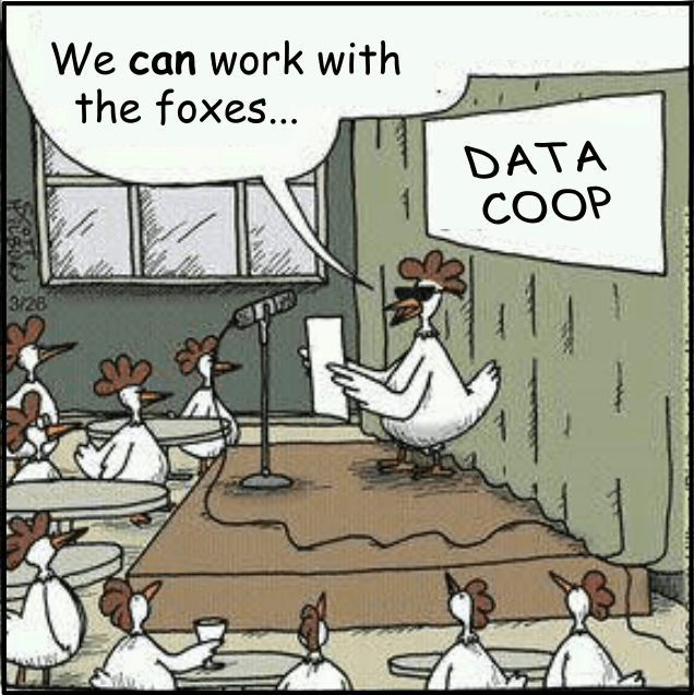 A data sharing idea for cooperatives