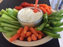 Veggie Tray with Healthy Ranch Dip