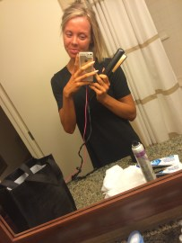 Doing my own hair/pre top coat of tan