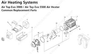 Webasto Air Top Evo 3900Evo 5500 Common Replacement Parts
