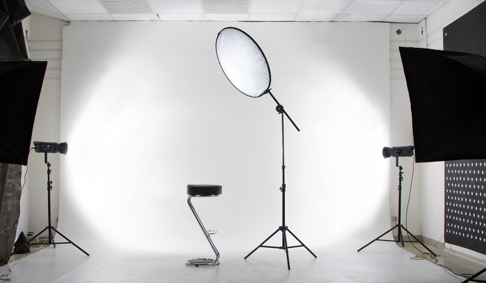 lighting product shots on a white backdrop