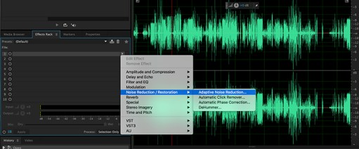5 Tips for Cleaning Up Audio in Audition: Adaptive Noise Reduction Effects Rack