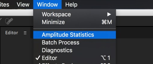 5 Tips for Cleaning Up Audio in Audition: Amplitude Statistics