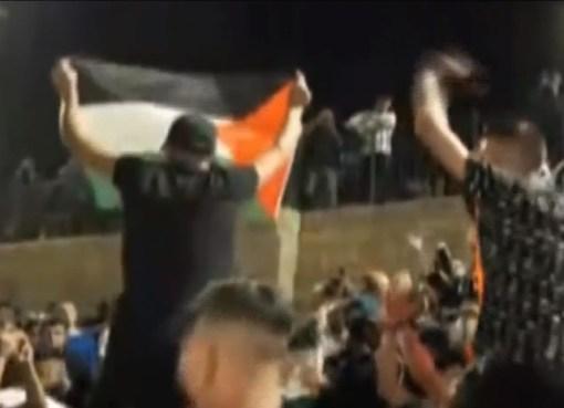 شاهد: الأعلام الفلسطينية وحدها من تملك شرعية المرور والشموخ والحرية