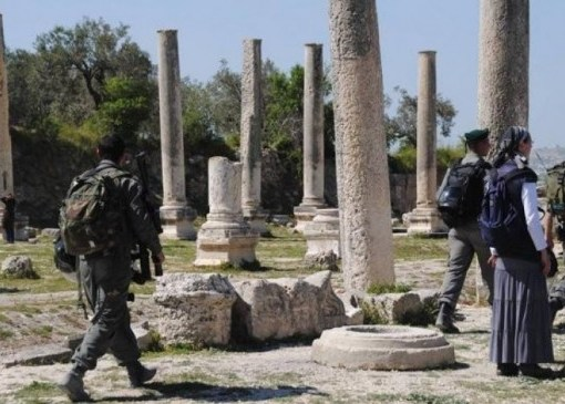 الاحتلال يوقف أعمال تأهيل مدخل سبسطية شمال نابلس