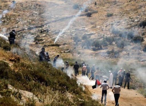 إصابات جراء قمع الاحتلال فعالية مناهضة للاستيطان في بيت دجن شرق نابلس