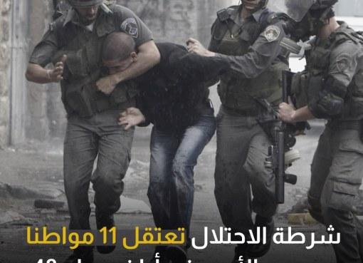 شرطة الاحتلال تعتقل 11 مواطنا من دير الأسد في أراضي عام 48