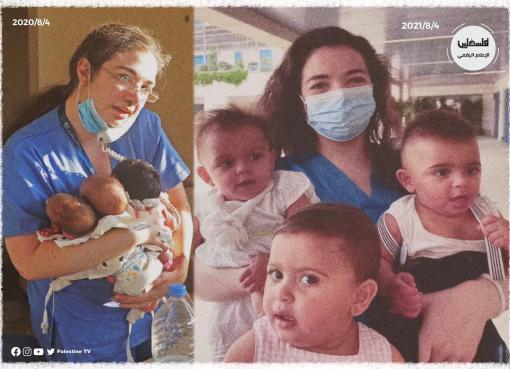 بعد عام من انفجار بيروت.. الممرضة باميلا في صورة حديثة مع الأطفال الناجين
