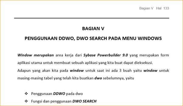 Penggunaan DDWO, DWO Search pada menu Windows