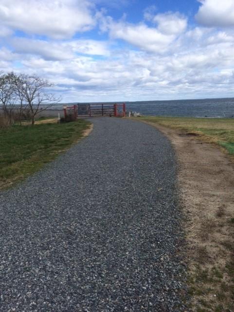 new gravel on road april 7