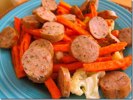chicken sausage and sweet potato bowl 011