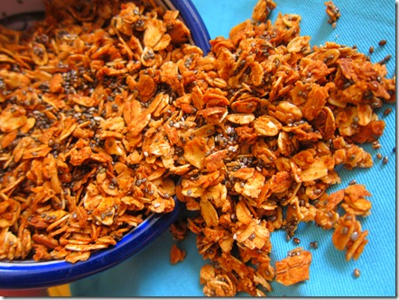 cinnamon chia seed granola 013