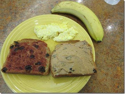 cinnamon raisin toast with peanut butter 003