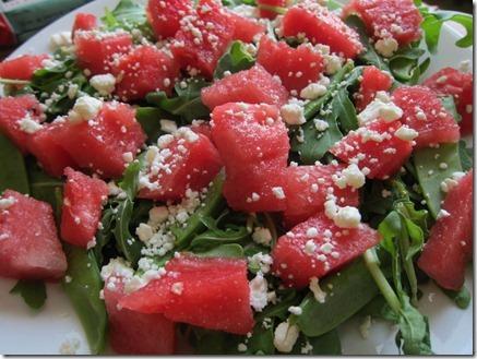 feta watermelon arugula salad 002