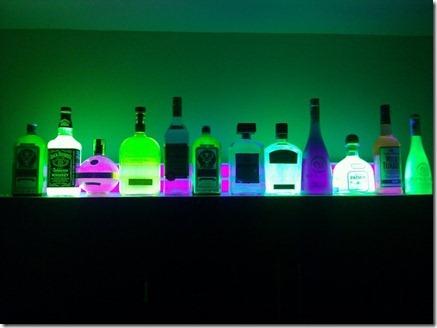 glow in the dark liquor bottles