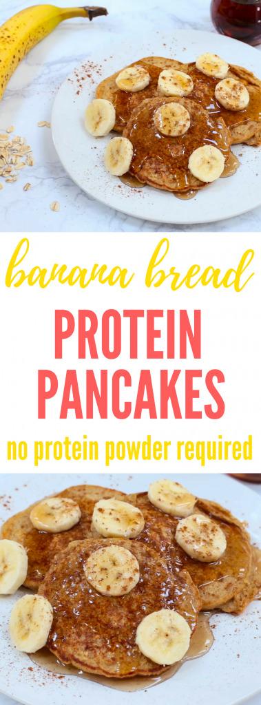 Banana Bread Protein Pancakes