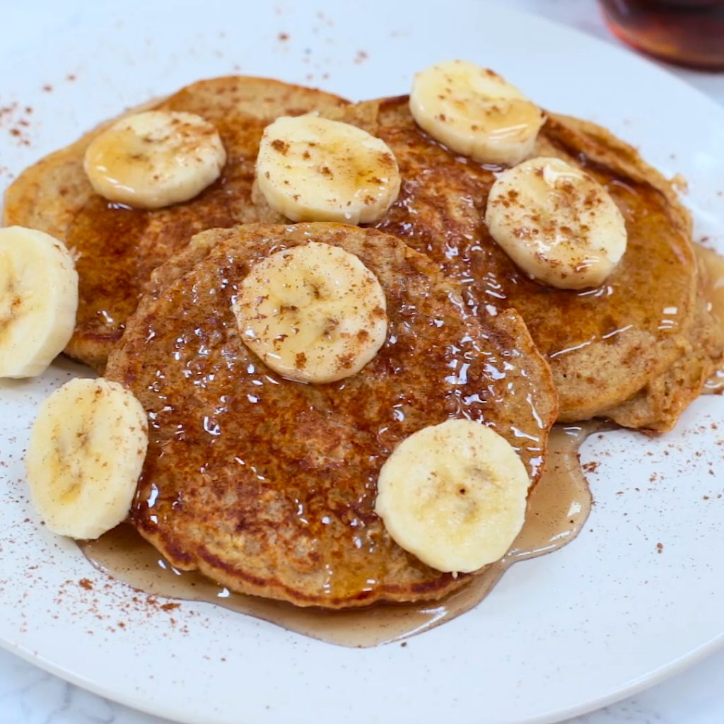 Banana Bread Protein Pancakes (Gluten-Free)