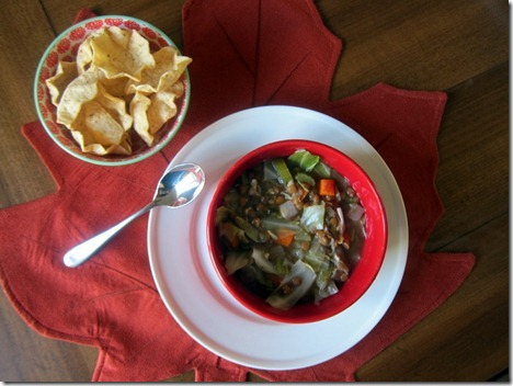 cabbage lentil soup 001