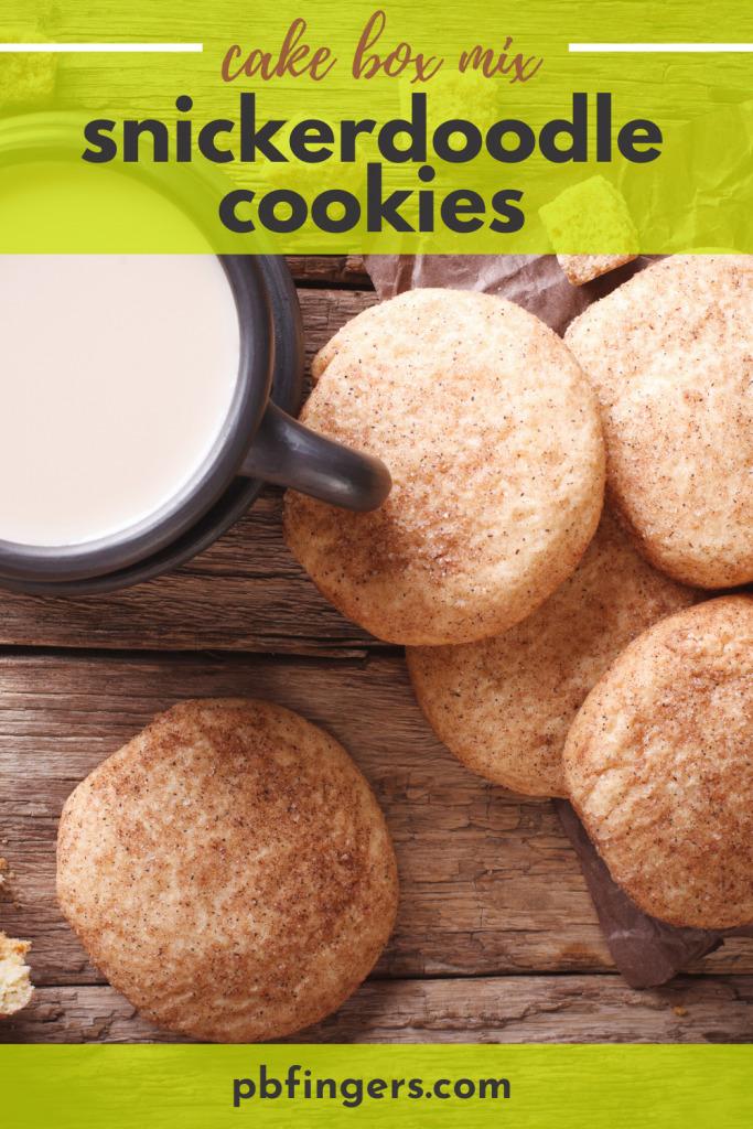 Cake Mix Snickerdoodle Cookies