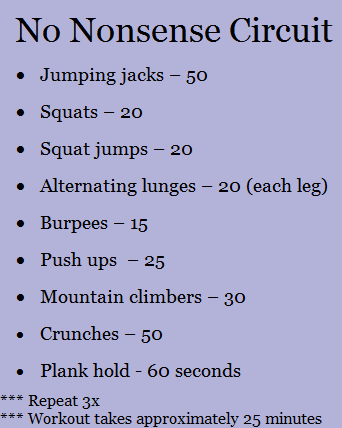 at home workouts  peanut butter fingers