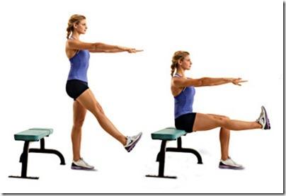 single leg bench sit