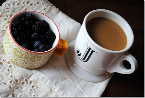berries and coffee
