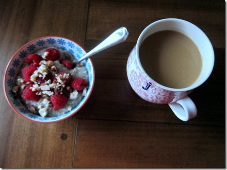 oatmeal and coffee