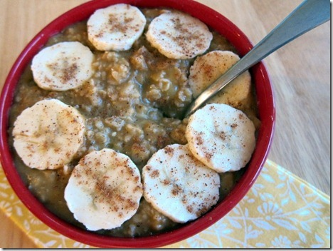 pumpkin banana oatmeal