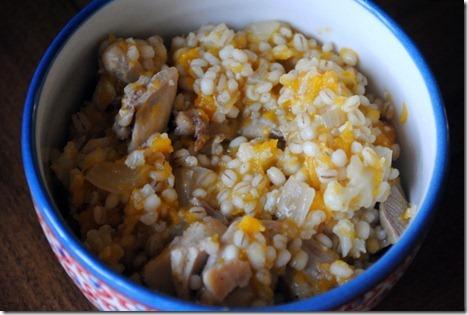 butternut squash barley risotto