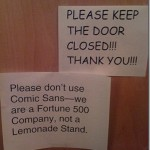 comic sans is horrible
