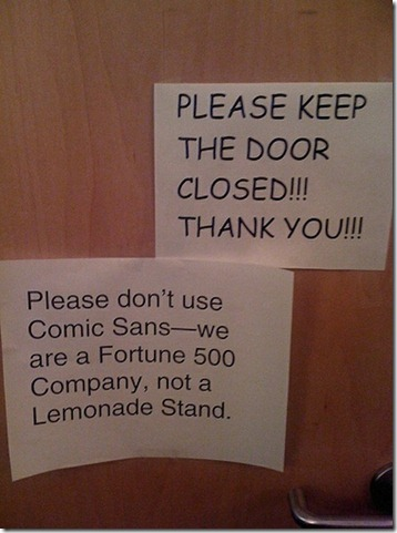 comic sans is horrible