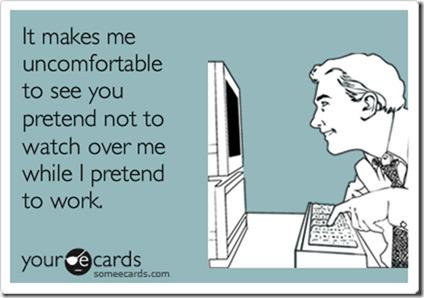 pretending to work 2