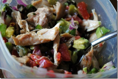 chicken avocado salsa