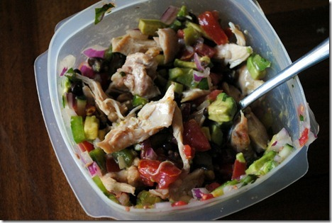 chicken with salsa and avocado