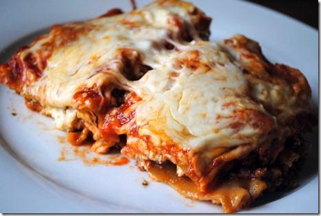 lasagna slices