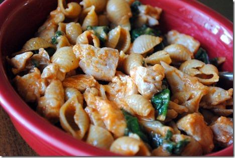 pasta chicken spinach