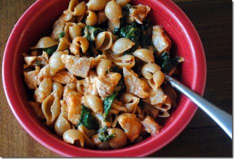 pasta shells marinara