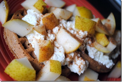 waffles with pear and ricotta 014