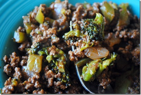 beef broccoli green pepper onion