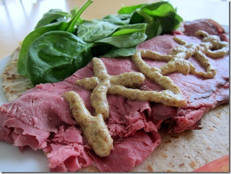 roast beef with stone ground mustard