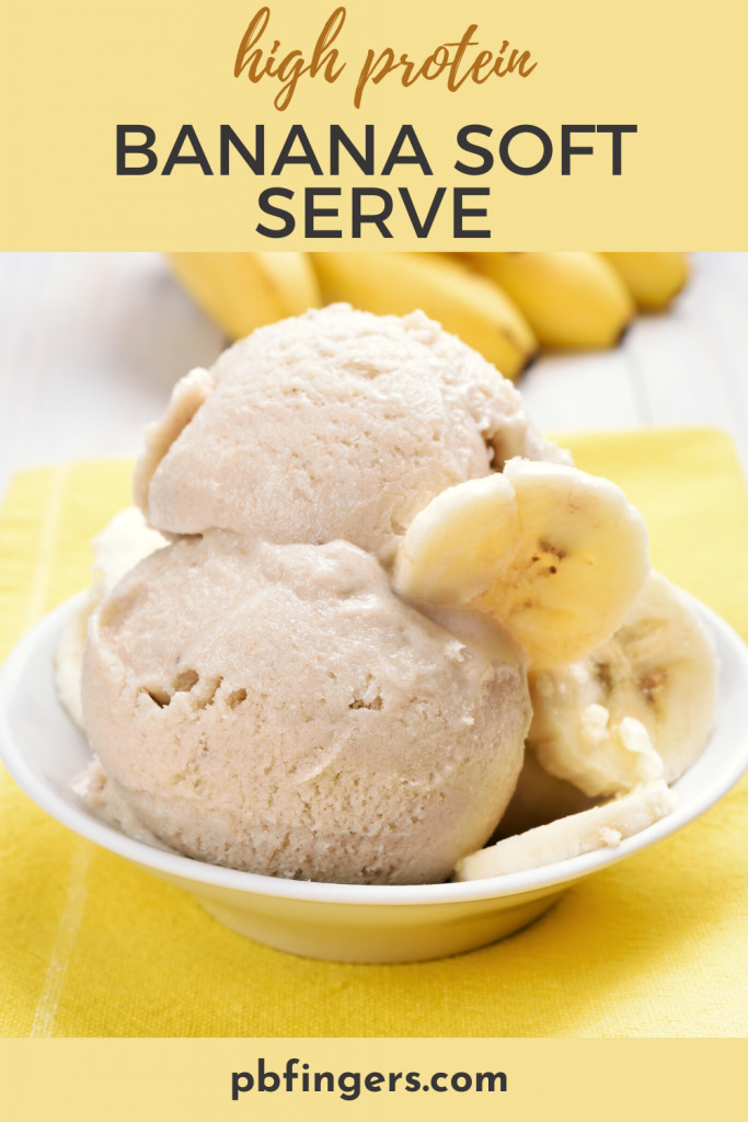 High Protein Banana Soft Serve