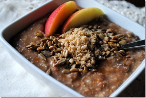 apple cinnamon steel cut oatmeal 020