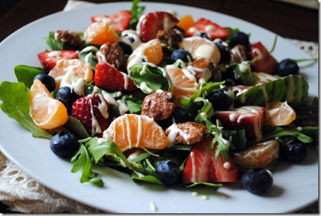 citrus salad with goat cheese dressing 013