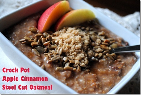 crock pot apple cinnamon steel cut oatmeal