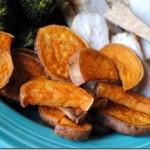 sweet potato wedges roasted