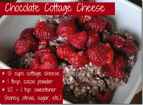 chocolate cottage cheese